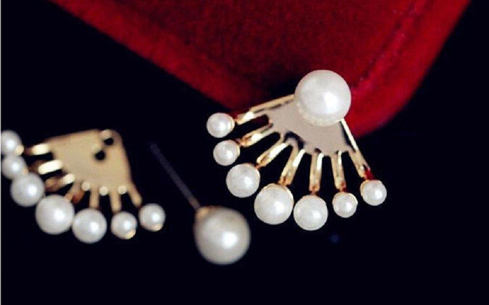 ILOVEDIY Neue Art-kleine nette Perlen-Blumen-Bolzen-Ohrringe für UPC Frauen Schmuck Accessoires