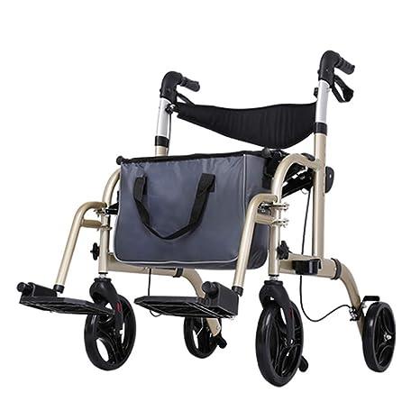 Walker ligero Walker Trolley Roller ligero de aluminio 4 ruedas ...