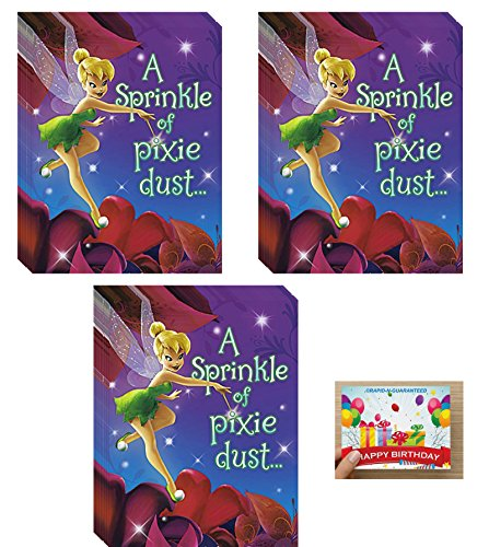 Tinker Bell Party Supplies Birthday Invitations Bundle for 24 Guests -