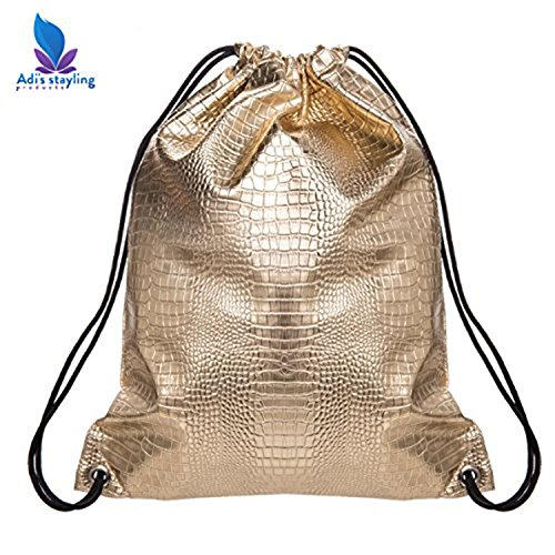 Gold Drawstring Bag by Adi's styling Product