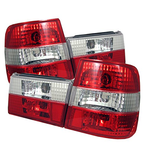 Spyder Auto ALT-YD-BE3488-RC BMW E34 5-Series Red/Clear Altezza Tail Light 95 Bmw E34 Led