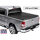 Gator ETX Soft Tri-Fold Truck Bed Tonneau Cover | 59422 | fits Dodge Ram 2019 6 ft 4 in bed, w/out RamBox, New Body Style | MADE IN THE USA