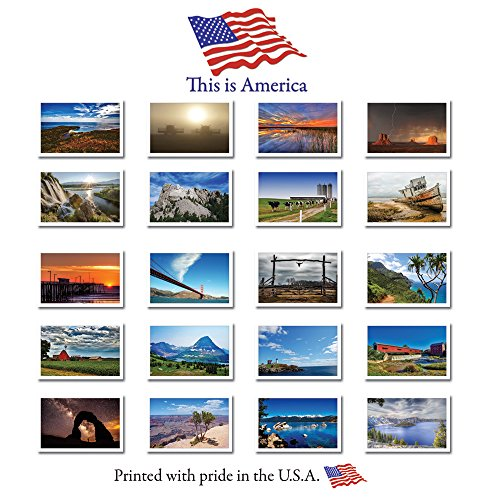 THIS IS AMERICA postcard set featuring 20 unique images depicting the diversity of the U.S.A.