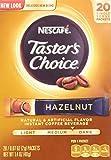 Nescafe Taster's Choice Instant Coffee Hazelnut, 20-Count Sticks, (Pack Of 2)