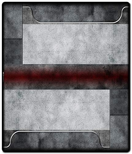 Inked Playmats Redzone 2 Player Mat Inked Gaming Perfect for MTG Pokemon & YuGiOh Magic The Gathering TCG Game Mat
