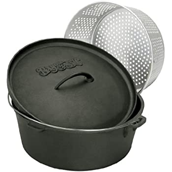 Amazon Com Bayou Classic 16 Quart Cast Iron Dutch Oven