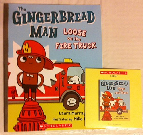 The Gingerbread Man Loose on the Fire Truck Audio Cd & Paperback Book By Laura ()