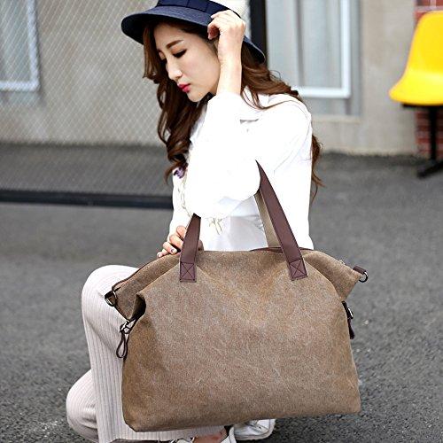 portés Femme Handbag Brown Sacs Sacs épaule toile Sac amp; Young main Grande Cabas Ming bandoulière portés 0FnqfITvx