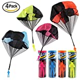 Tangle Free Throwing Toy Parachute,Toss It Up and watch Landing Figures&Hand Throw Solider Man|Square Outdoor