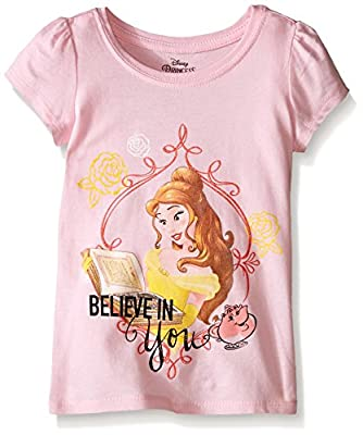 "Disney Girls' Princess ""believe In You"" Short Sleeve T-Shirt"