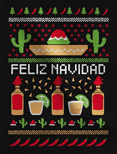 Feliz Navidad Cristmas.Tstars Feliz Navidad Mexican Ugly Christmas Sweater Funny Xmas Women Sweatshirt
