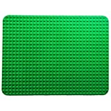 Extra Large Block Building Baseplate 20 inches x 15 inches by The Wacky Warehouse (32 x 24 Studs) Green (Large)