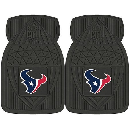 NFL 4-Piece Front #36572624 and Rear #19888891 Heavy-Duty Vinyl Car Mat Set, Houston Texans by Sports Licensing Solutions LLC