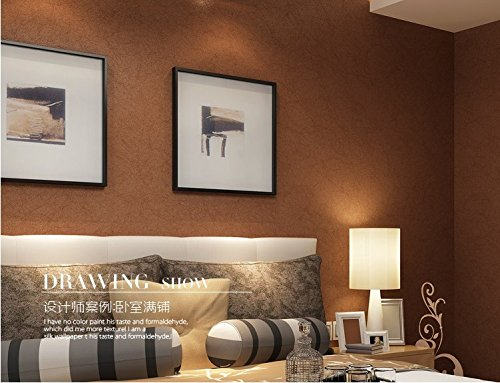 QIHANG Silk Modern Brief Plain Solid Color Non-woven Wallpaper Roll TV Background Bronze Gold Color 0.53m*10m=5.3m2