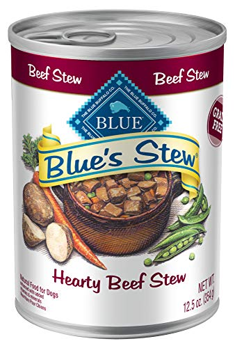 Blue Buffalo Blue's Stew Natural Adult Wet Dog Food, Beef Stew 12.5-oz can (Pack of 12) (Best Dog Food Brand 2019)