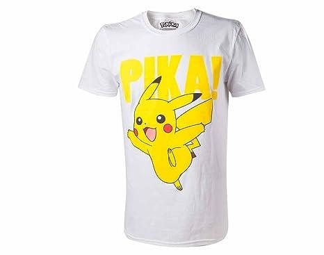 T Avec Motif XsLivres Pokemon Coton Shirt Blanc Pikachu UzMVSp
