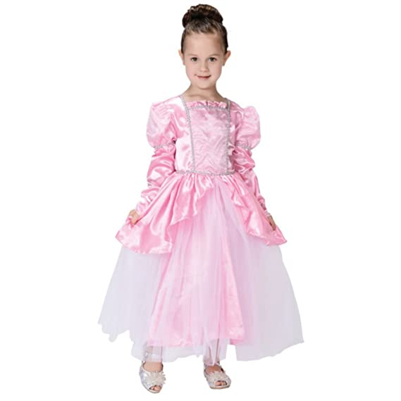 Kids Pink Princess Costume (7-9 Years, Pink)
