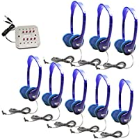 HamiltonBuhl Kids Listening Center with 8 Personal Headphones and Jackbox