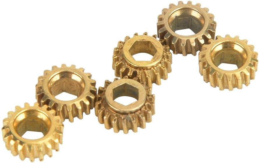 Meccanica per accordatura di Corde per Chitarra Chitarra Classica Testa a Testa Interna Foro Esagonale Interno 4mm 6PCS