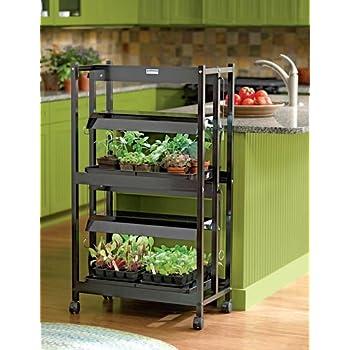 Amazon Com Indoor Grow Light Stand Compact 2 Shelf
