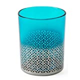 Shiraleah Morocco Votive Candle Holder, Large, Turquoise