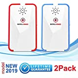 Ultrasonic Pest Repeller 2019-2 Pack Control Repellent - Get Rid of Rodents, Mice, Rats, Squirrels, Bats, Insects, Bed Bugs, Ants, Mosquitoes, Fleas, Roaches, No Kill Plug in, No Harmful Chemicals,