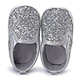 Voberry Baby Boy Girls Sequin Crib Shoes Toddler Soft Sole Anti-slip Outdoor Sneakers