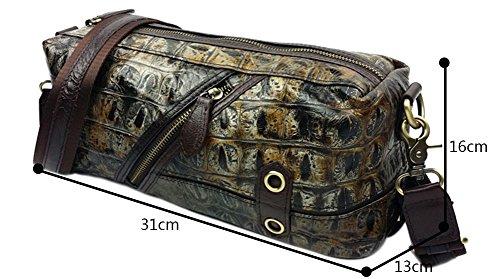 Genda 2Archer Piccolo vera pelle Borsa a tracolla di moda Viaggi Borsa messenger borsetta per donne