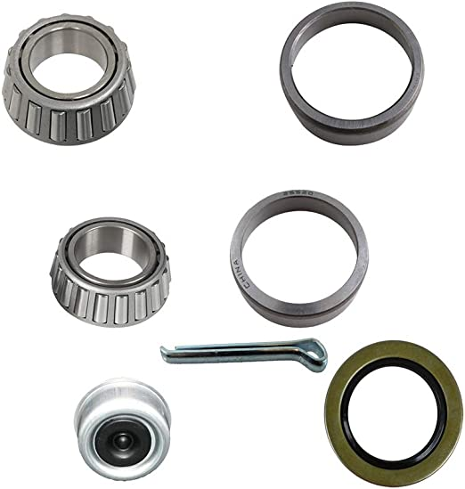 Includes steel Cap MPBK2K1116S Trailer Bearing Repair Kit for 1-1//16 Inch Straight Spindles