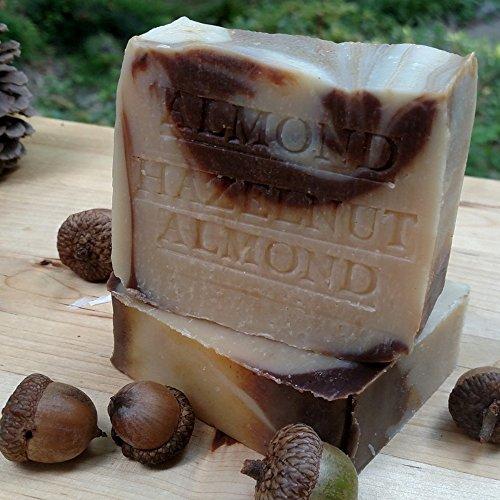 Almond - Hazelnut Soap Bar with Organic Almond Butter Handmade -All Natural Artisan Soap