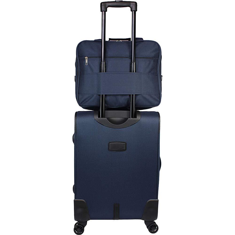 World Traveler Embarque Lightweight 2-Piece Carry-on Spinner Luggage Set-Navy