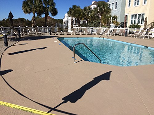 Cool decking pool deck paint coating for concrete and for Average square footage of a pool