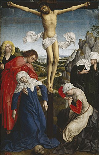 Oil Painting 'Weyden Roger Van Der Crucifixion Ca. 1510', 10 x 16 inch / 25 x 40 cm , on High Definition HD canvas prints is for Gifts And Bar, - Coupon Shades Georgia