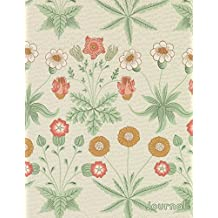 Journal: Beautiful Pastel Retro Flower Design Vintage Floral Print | 150 College-ruled Pages | 8.5 x 11 - A4 Size