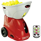 Lobster Sports Elite Three Tennis Ball Machine with Elite 10-Function Remote Control