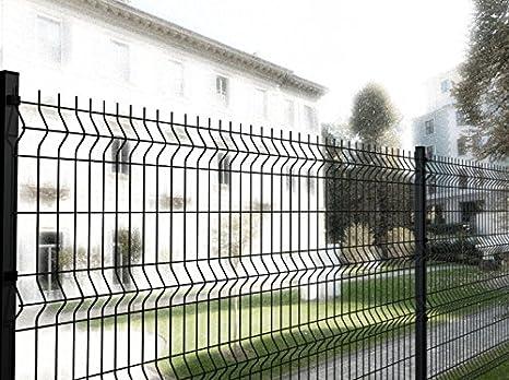 Italfrom - Valla modular para exteriores, red metálica electrosoldada, 200 x 172 (alto) cm, color antracita, referencia 2288: Amazon.es: Hogar