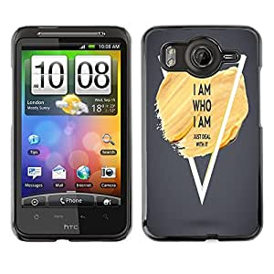 Dragon Case - FOR HTC G10 - i am who i am - Caja protectora de pl??stico duro de la cubierta Dise?¡Ào Slim Fit