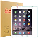 Glass Screen Protector for New iPad 9.7 2017/2018, SENGBIRCH 9H Hardness Tempered Film for iPad 5th / 6th Generation, iPad Air 1, iPad Air 2, iPad Pro 9.7.