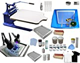 Single Color Screen Printing Kit T-shirt Hobby Bundle DIY Printing Press With Exposure Unit