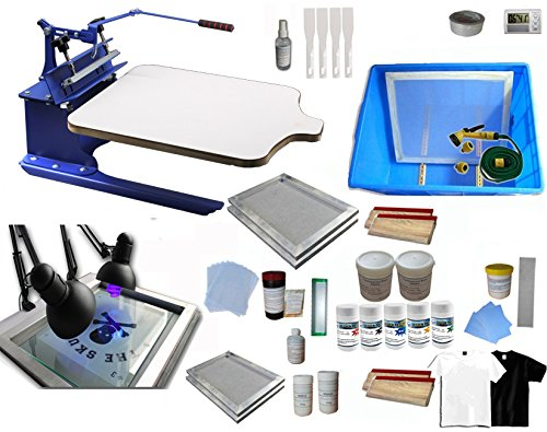 Single Color Screen Printing Kit T-shirt Hobby Bundle DIY Printing Press With Exposure Unit by Screen Printing Kit