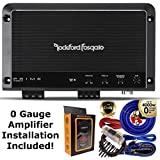 Rockford Fosgate R1200-1D Prime 1200 Watts Class D 1-Channel Amplifier + 0 Gauge Amp Kit