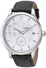 Tissot Men's TIST0636391603700 Tradition Analog Display Swiss Quartz Brown Watch