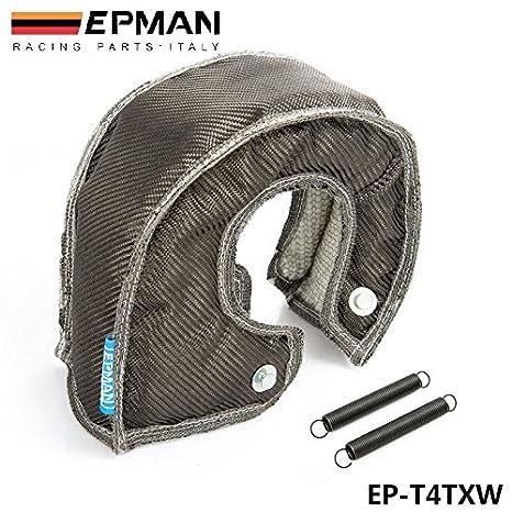 epman de fibra de carbono Turbo manta calor Shield para alto rendimiento para T4 GT45 GT40 GT47 ep-t4txw: Amazon.es: Coche y moto