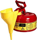 Product review for Justrite 7110110 1 Gallon, Galvanized Steel Type I Red Safety Can With funnel