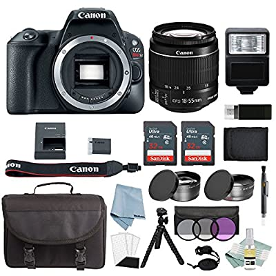 Canon EOS Rebel SL2 Bundle With EF-S 18-55mm f/4-5.6 IS STM Lens + Canon SL2 Camera Advanced Accessory Kit - Canon SL2 Bundle Includes EVERYTHING You Need To Get Started from Canon