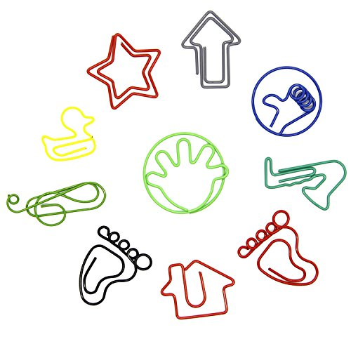 Coolrunner 30pcs Of 10 styles Creative Shape Paper (10 Paper Clips)