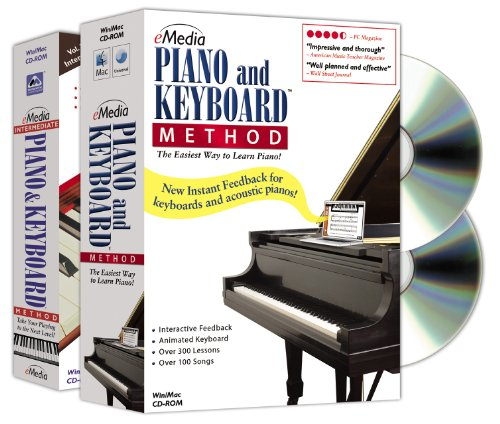 eMedia Piano and Keyboard Method Deluxe v3 (2 volume set) - Emedia Piano Software