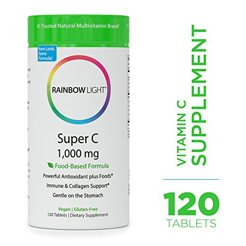 Cheap Rainbow Light – Super C 1,000 mg – Food-based, High Potency, Vegan Vitamin C Supplement, Supports Immune Health and Provides Antioxidant Protection – 120 Tablets