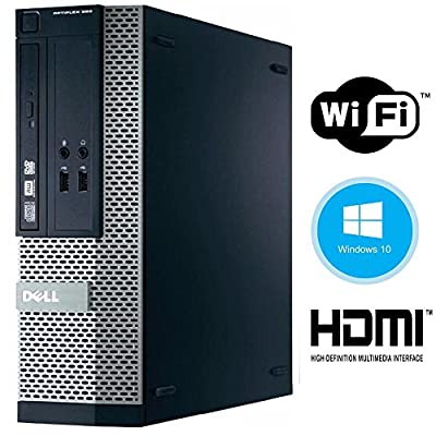 Dell Optiplex 390 High Performance Premium Business Desktop Computer - Intel Core i5-2400 3.1GHz 8GB 250GB DVD Windows 10 Pro - HDMI - Keyboard, Mouse, WiFi Adapter