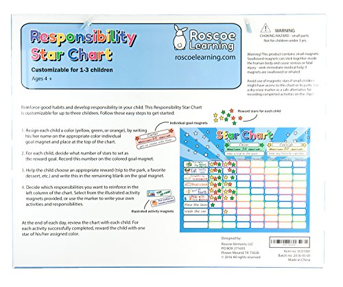 Amazon.com: Roscoe Learning Responsibility Star Chart | Customize ...